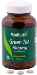 Health Aid Green Tea (Grüner Tee) Extract 1000mg equivalent (standardised) 60 Tabletten (vegan)