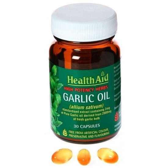 Health Aid Garlic Oil 2mg - Standardised (Knoblauchöl) 30 Kapseln