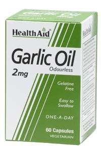 Health Aid Garlic Oil 2mg (odourless) (geruchsloser Knoblauch) 30 veg. Kapseln