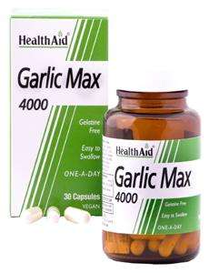 Health Aid Garlic Max 4000 (Knoblauch) 30 veg. Kapseln (vegan)