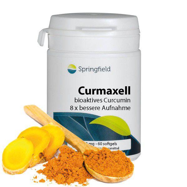 Springfield Curmaxell, Bio-Activ Curcumin 250 mg 60 Softgels (34g)