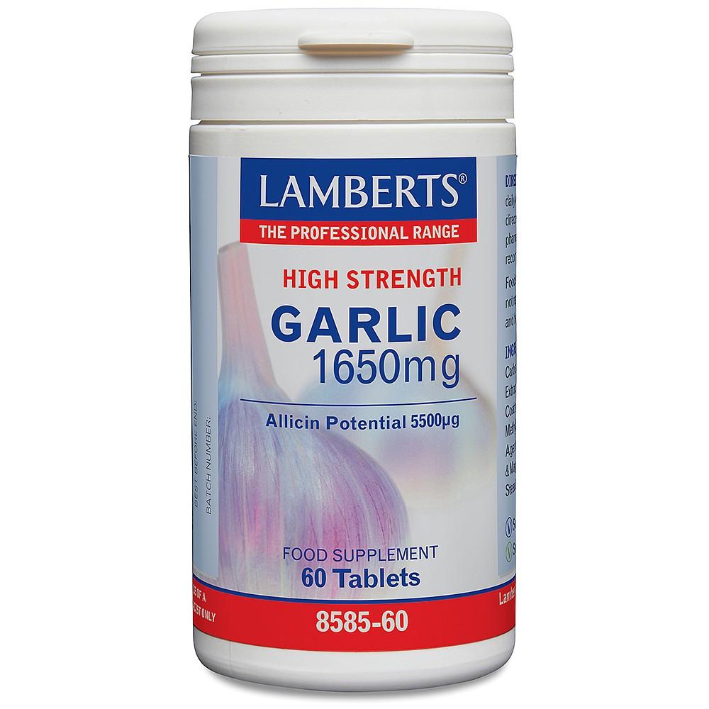 Lamberts Healthcare Garlic 1650mg (Knoblauch) 60 Tabletten (vegan)