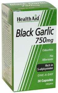 Health Aid Black Garlic 750 30 veg. Kapseln