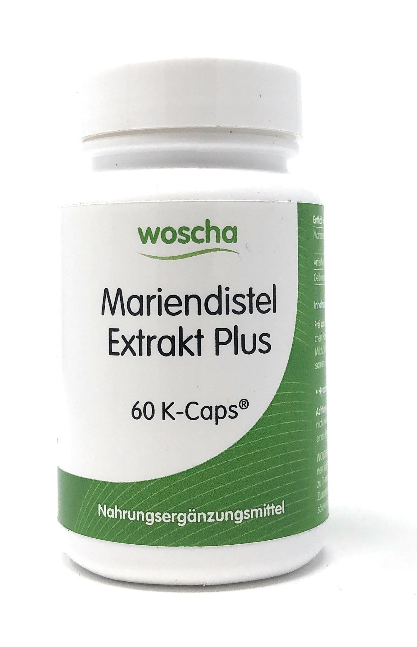 woscha Mariendistel Extrakt Plus 60 veg. K-CAPS® (35g)(vegan)