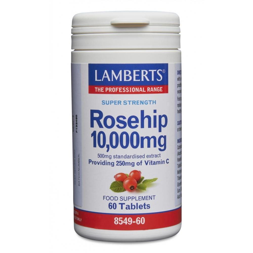 Lamberts Healthcare Rosehip (Hagebutte) 10.000mg (liefert 250mg Vitamin C) 60 Tabletten