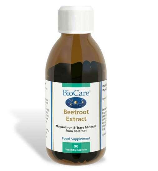 Biocare Beetroot Extract (Rote Rüben als Quelle für Eisen) 90 veg. Kapseln (vegan)