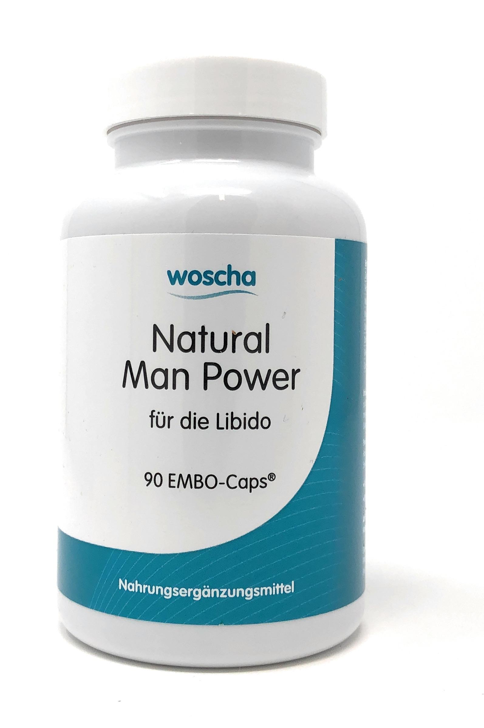 woscha Natural Man Power 90 Embo-Caps® (83g) (vegan)
