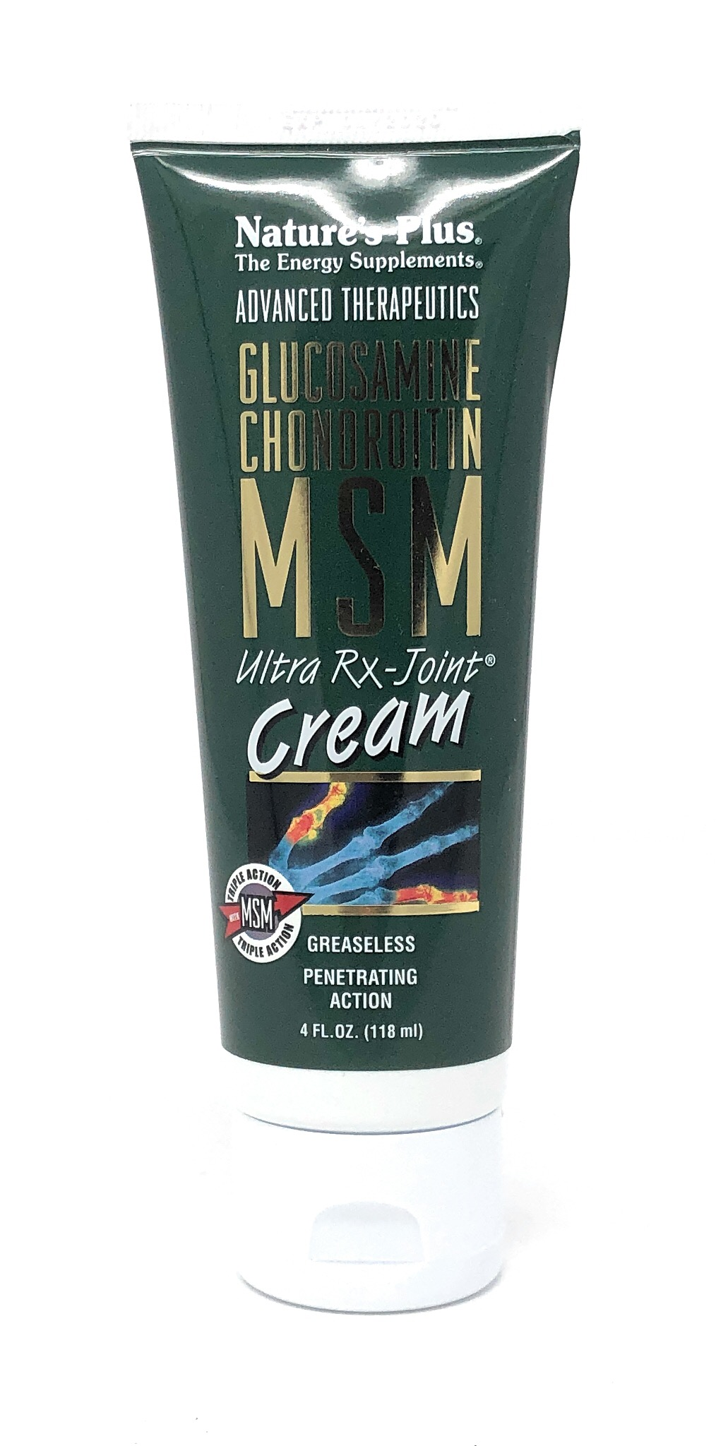 Natures PlusGlucosamine/Chondroitin/MSM Ultra Rx-Joint® Cream 118 ml Tube