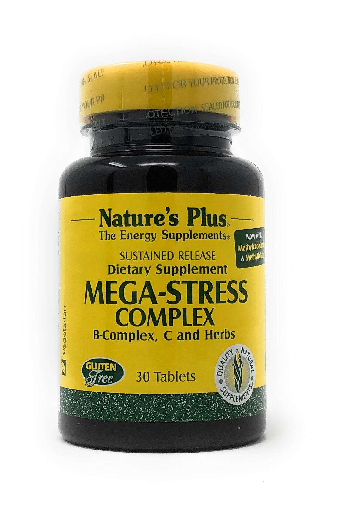 Natures Plus Mega-Stress Complex 30 Tabletten S/R (71,8g)
