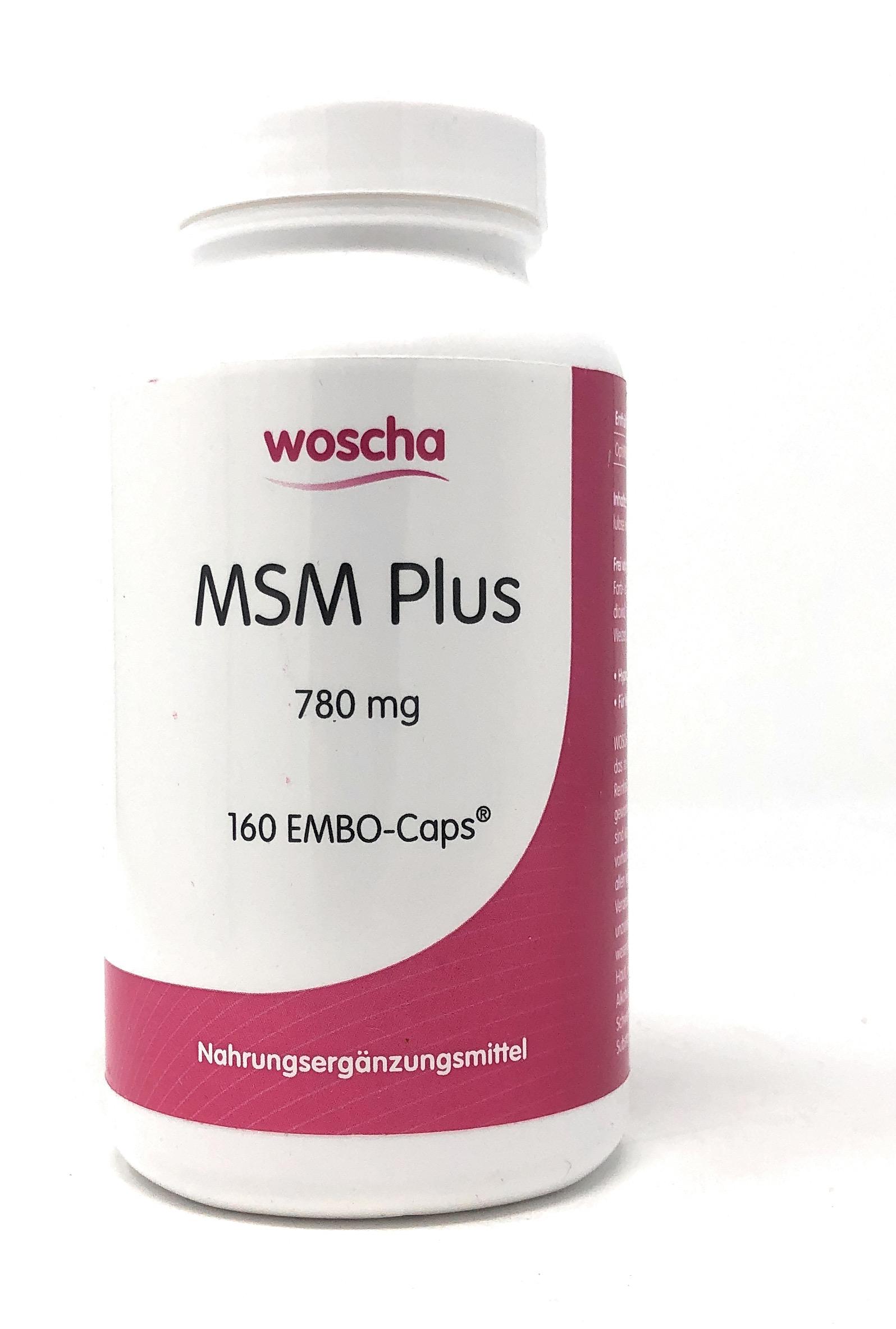 woscha MSM Plus 780mg 160 Embo-CAPS® (144g) (vegan)