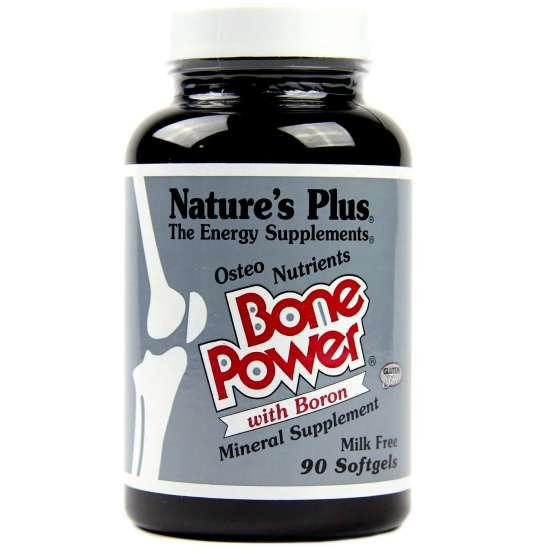 Natures Plus Bone Power Calcium with Boron 90 Softgels (200g)