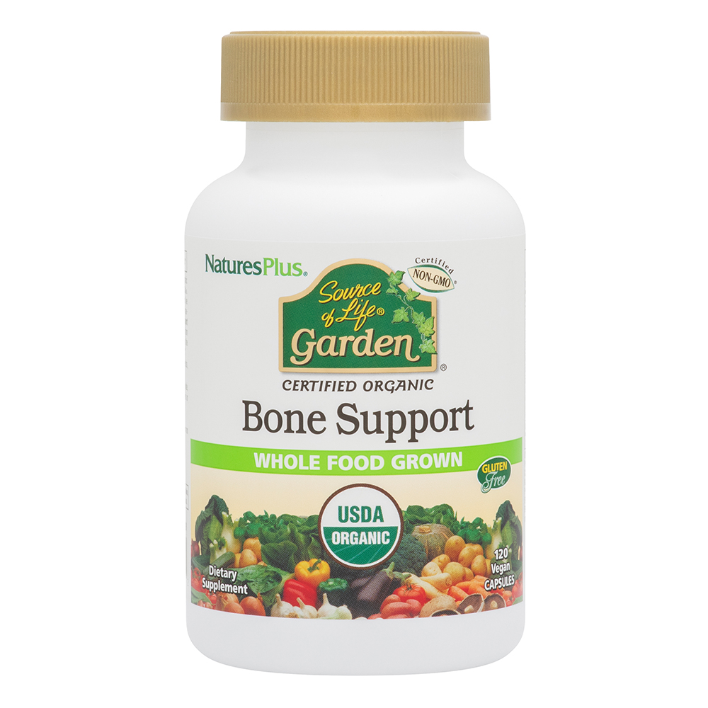 Natures Plus Source of Life Garden[TM] Bone Support 120 veg. Kapseln (vegan, BIO)