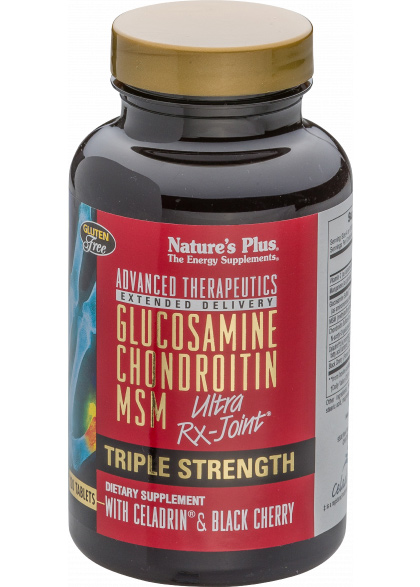 Natures PlusTriple Strength Ultra Rx-Joint® Glucosamine / Chondroitin / MSM w/Celadrin® & Cherry 120 Tabletten (210,8g)