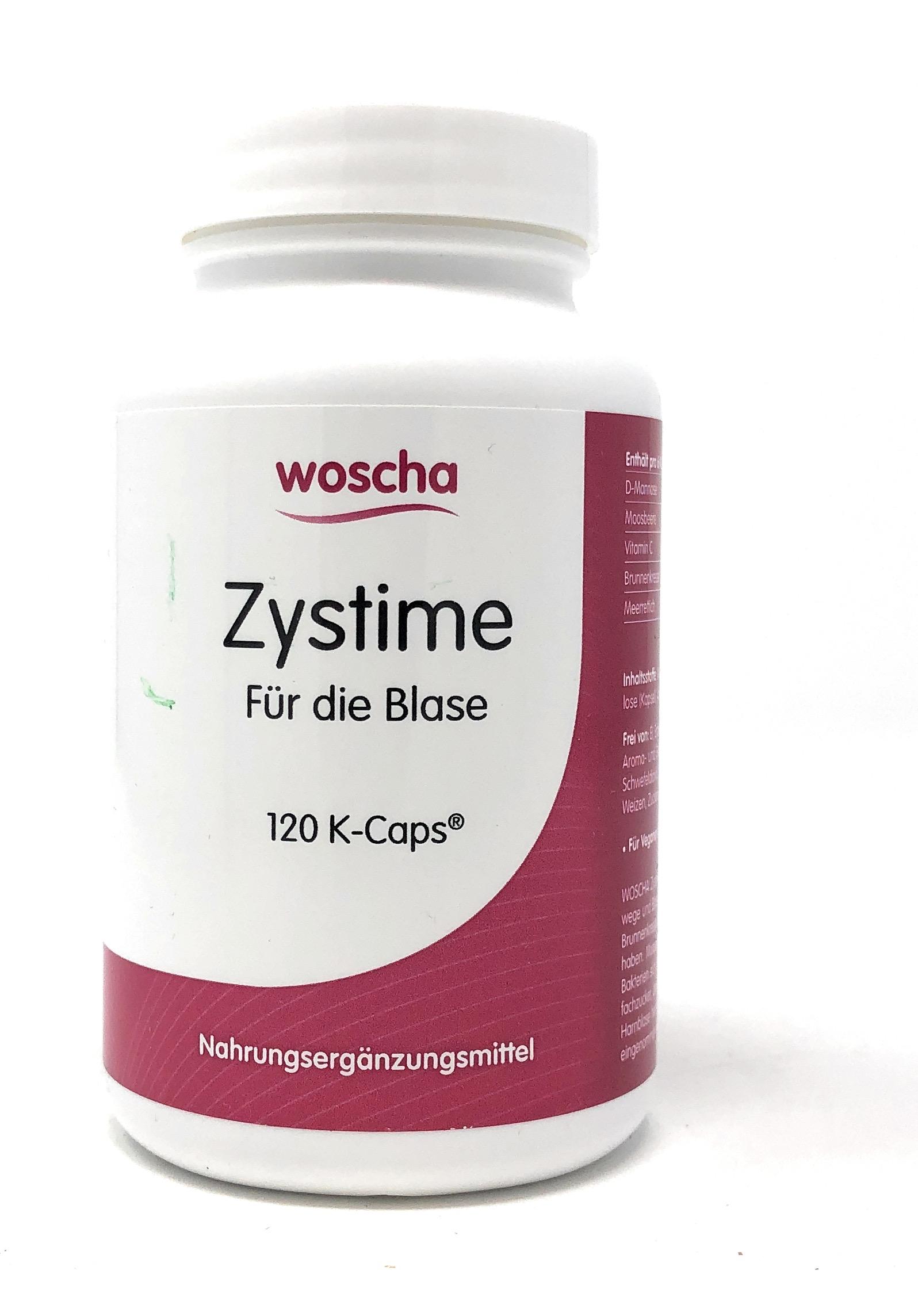 woscha Zystime für die Blase (D-Mannose, Cranberry) 120 K-Caps (100g) (vegan)