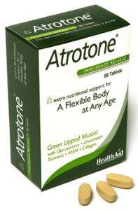 Health Aid Atrotone® Blisterverpackung (MSM, Green Lipped Mussel, Collagen) 60 Tabletten S/R