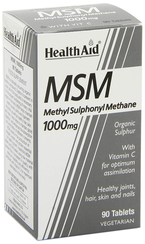 HealthAid MSM 1000mg  (Methyl-Sulfonyl-Methan) 90 Tabletten