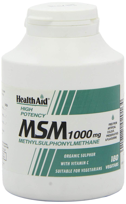 HealthAid MSM 1000mg  (Methyl-Sulfonyl-Methan) 180 Tabletten