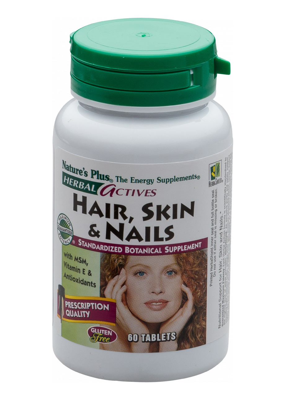 Natures Plus Herbal Actives Hair, Skin & Nails 60 Tabletten (60g)