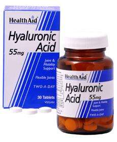 Health Aid Hyaluronic Acid 55mg (Hyaluronsäure) 30 veg. Tabletten (vegan)