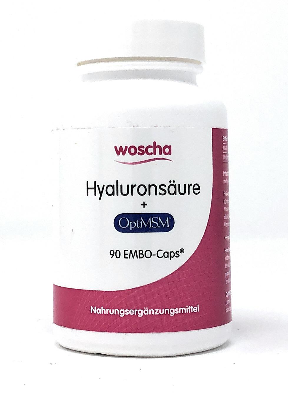 woscha Hyaluronsäure mit MSM 90 EMBO-CAPS® (53g)