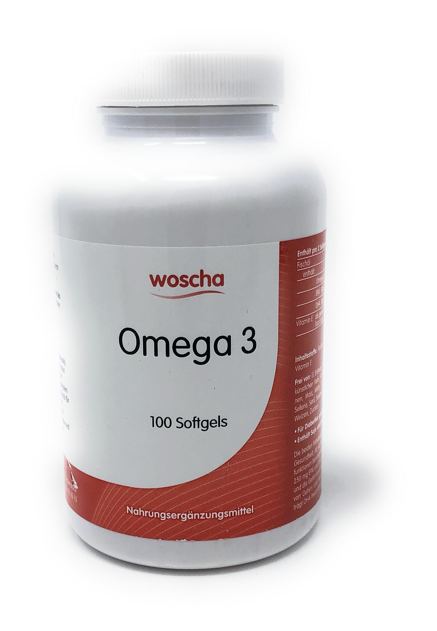 woscha OMEGA 3 100 Softgels (101g)