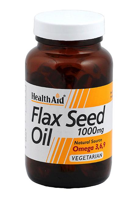 HealthAid Flaxseed Oil 1000mg (Leinöl) 60 Kapseln (vegan)
