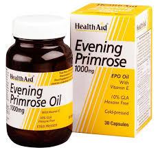 Health Aid Evening Primrose Oil 1000mg (Nachtkerzenöl) + Vitamin E 30 Weichgelatine-Kapseln