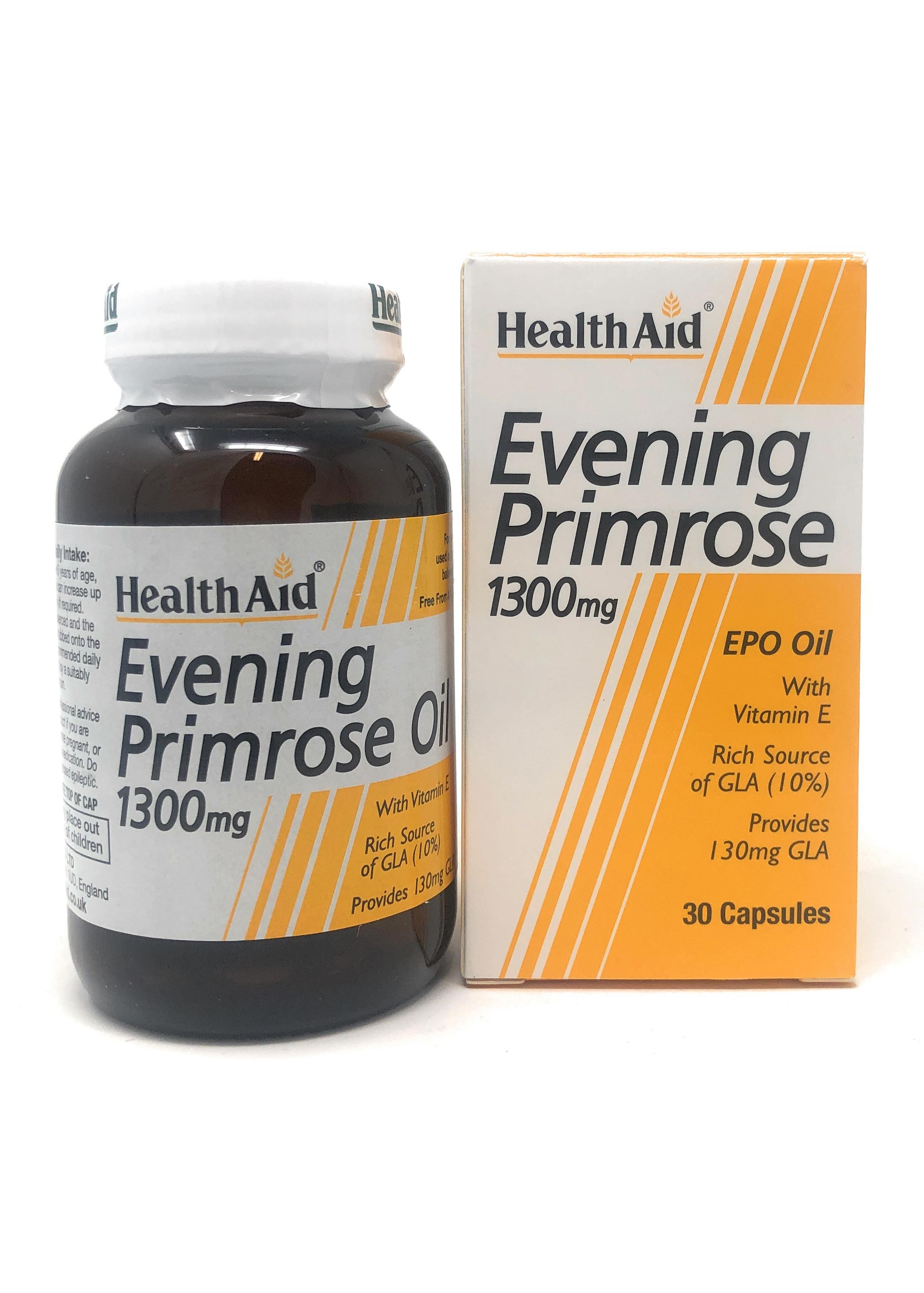 HealthAid Evening Primrose Oil 1300mg (Nachtkerzenöl) 30 Softgels