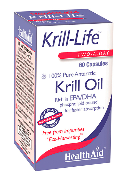 HealthAid Krill Oil (Two-a-Day) 60 Kapseln