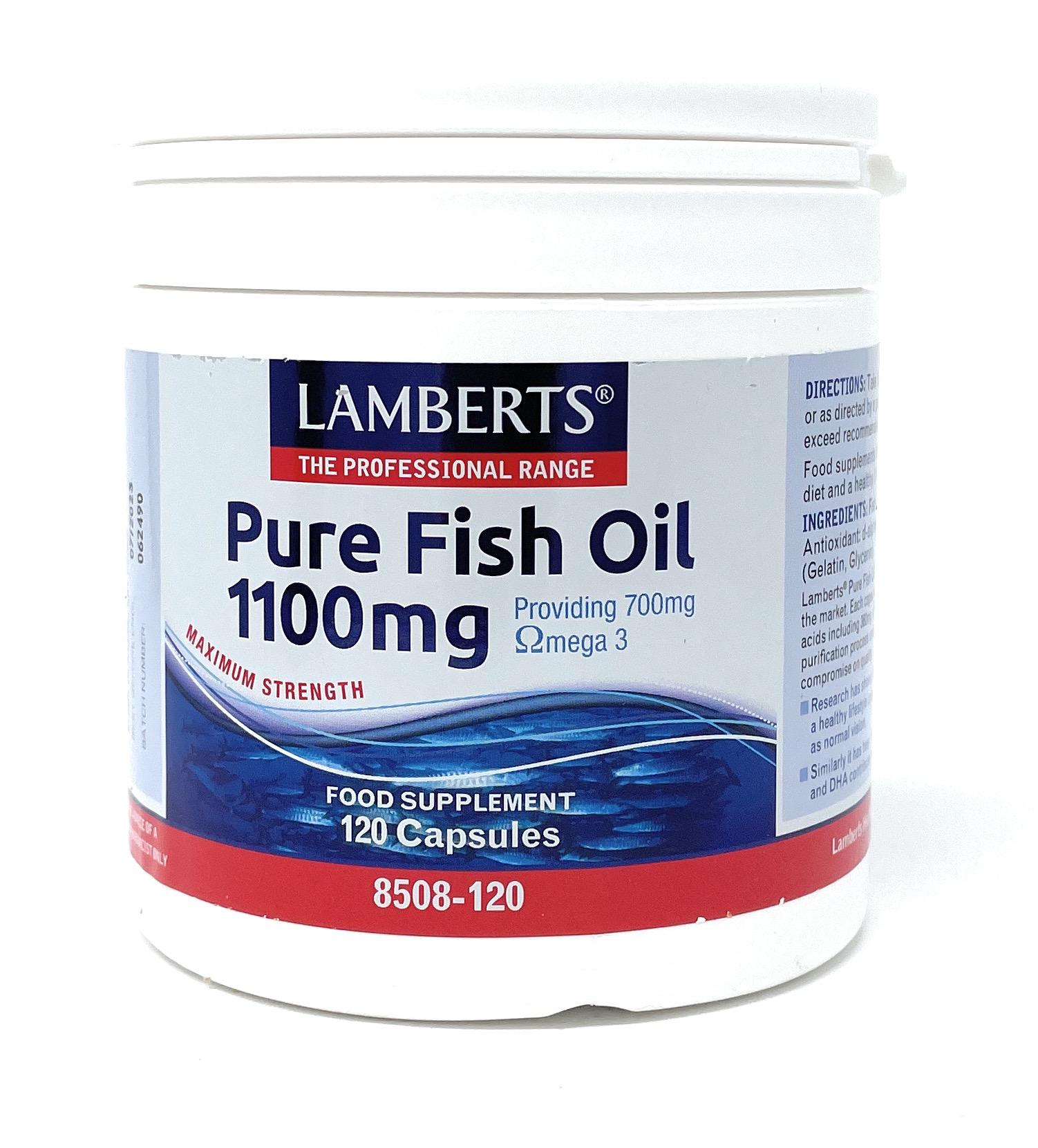 Lamberts Healthcare Ltd. Pure Fish Oil (Fischöl) 1100mg 120 Softgels