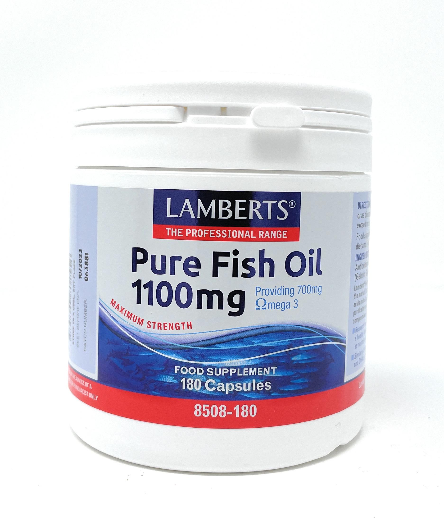 Lamberts Healthcare Pure Fish Oil (Fischöl) 1100mg 180 Softgels