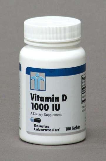 Douglas Labs Vitamin D, 1000 I.U. 100 Tabletten (27g)