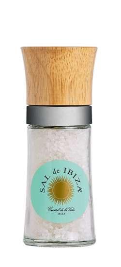 Sal de Ibiza Salzmühle mit ca. 110g groben Meersalz