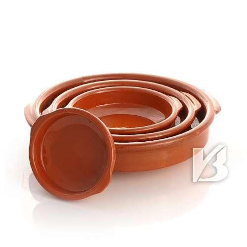 Cazuela, traditionell, flach, braun 14 cm