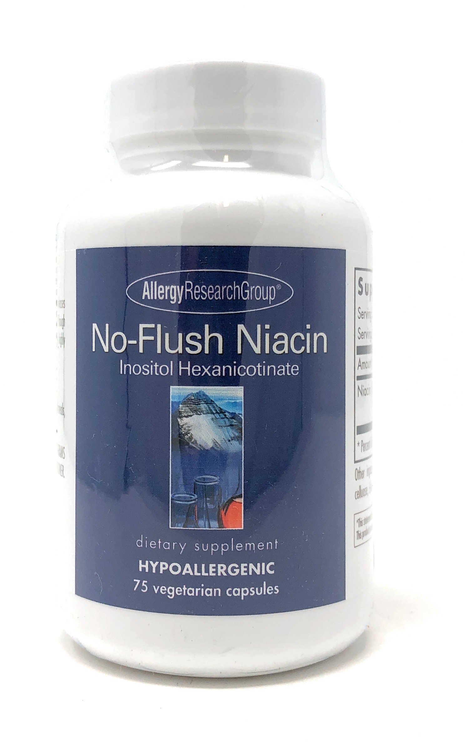 Allergy Research Group No-Flush Niacin (Inositol Hexanicotinat)  75 veg. Kapseln