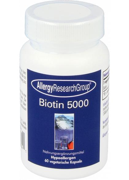 Allergy Research Biotin 5000mcg 60 veg. Kapseln