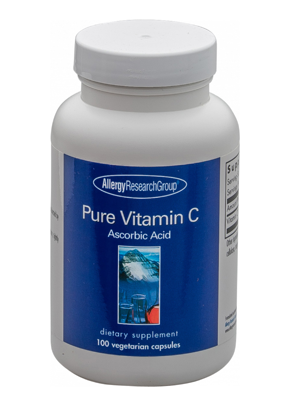 Allergy Research Group Pure Vitamin C (aus Mais) 100 veg. Kapseln