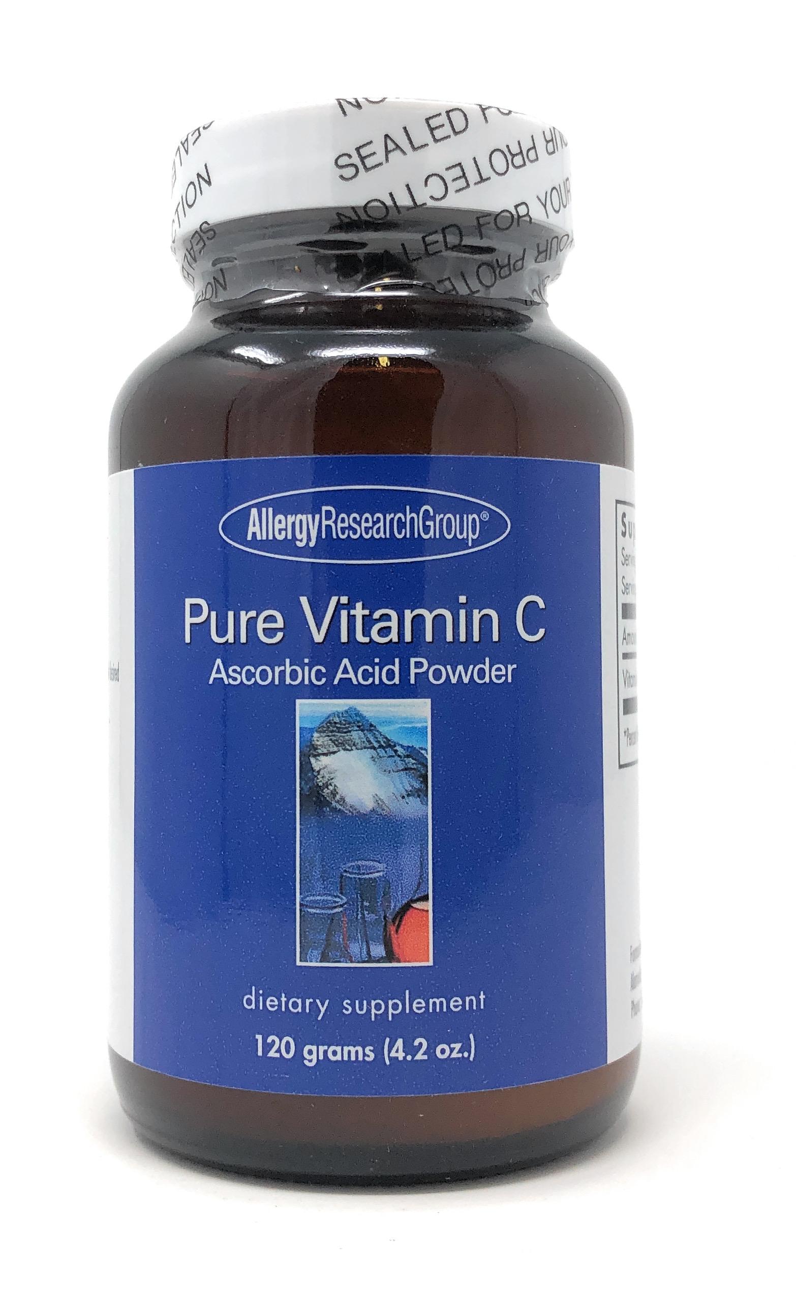 Allergy Research Group Pure Vitamin C (aus Mais) 120 g Pulver