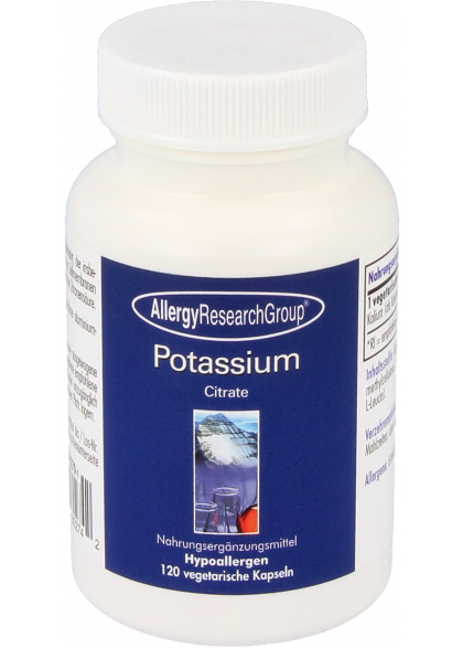 Allergy Research Group Potassium Citrate 99 mg (Kalium) 120 veg. Kapseln