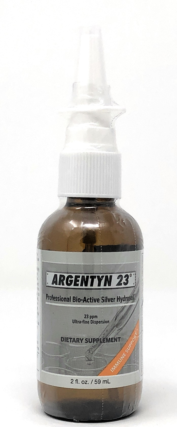 Allergy Research Group Argentyn 23(kolloiadales Silber) Nasenspray 59 ml vertikale Sprühflasche