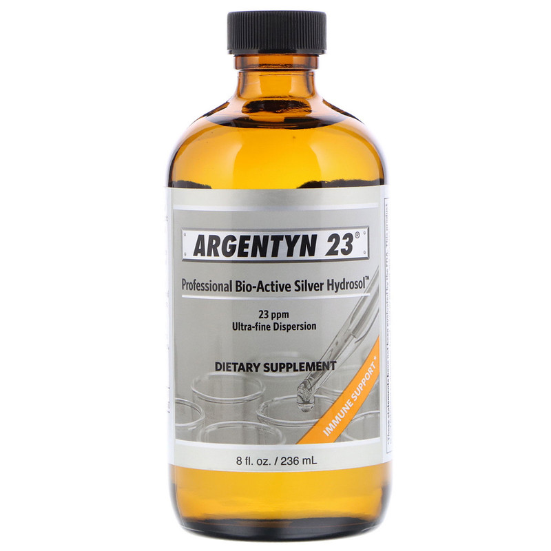 Allergy Research Group Argentyn 23 (kolloiadales Silber) 236 ml (8 fl. oz.) Flasche