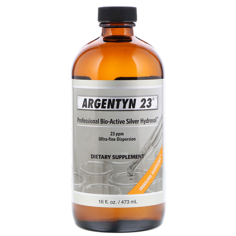 Allergy Research Group Argentyn 23 (kolloiadales Silber) 473 ml (16 fl. oz.) Flasche