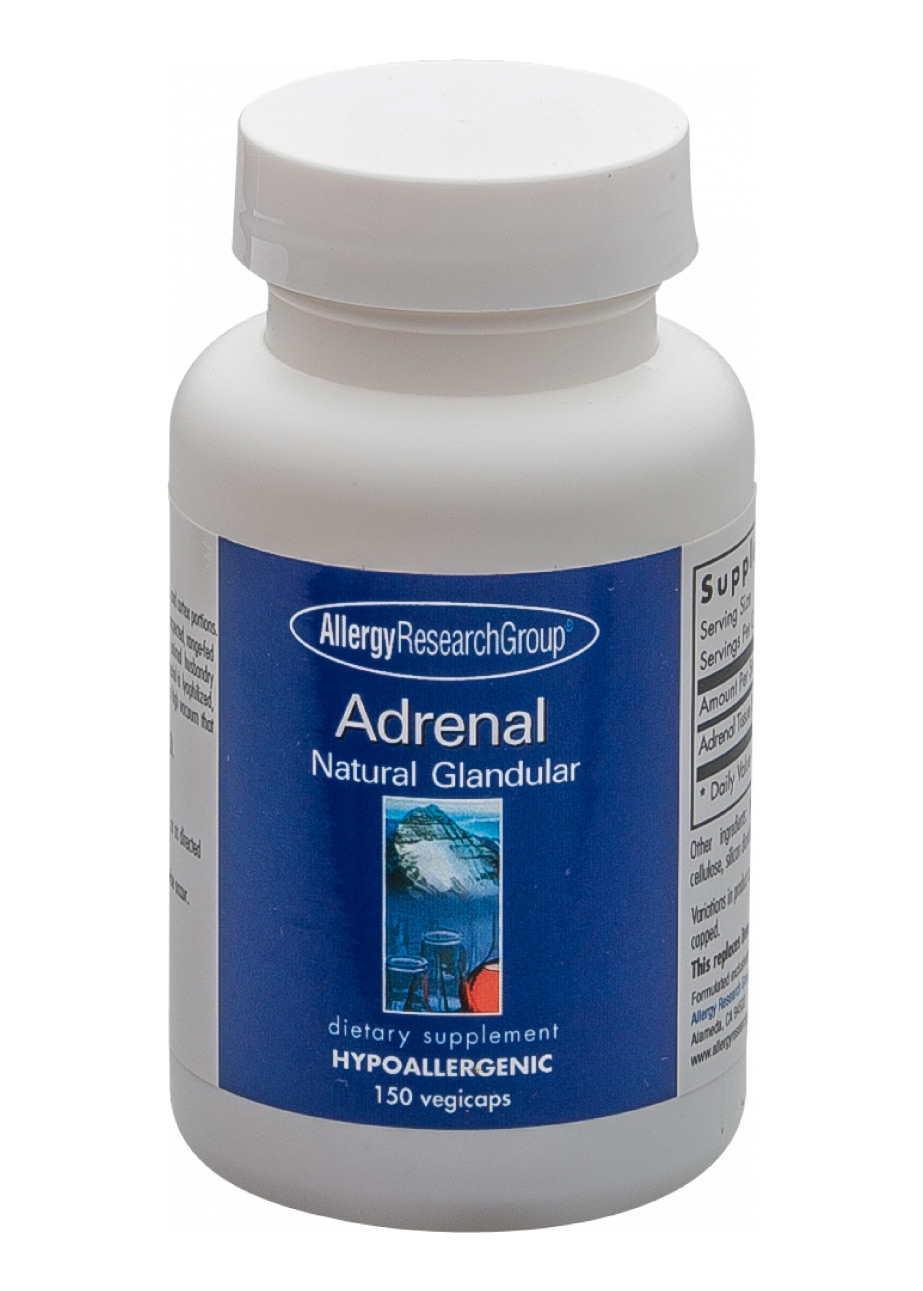 Allergy Research Group Adrenal Natural Glandular 100mg 150 Kapseln