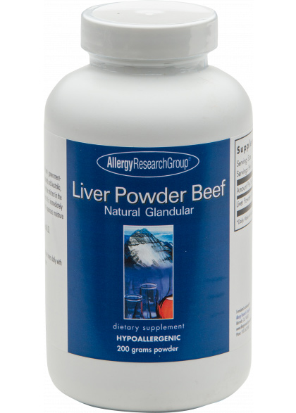 Allergy Research Group Liver Powder Beef 200g Pulver