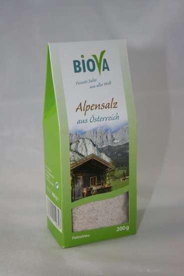 Biova Gourmetsalz Alpensalz Bergkern Feinstreu 200g Packung