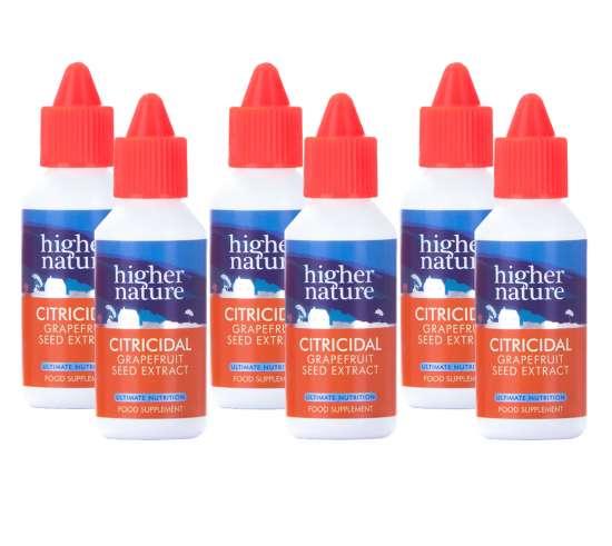 (6er BUNDLE) | Citricidal TM Liquid Grapefruitkern-Extrakt 100ml | 6x100ml - Higher Nature