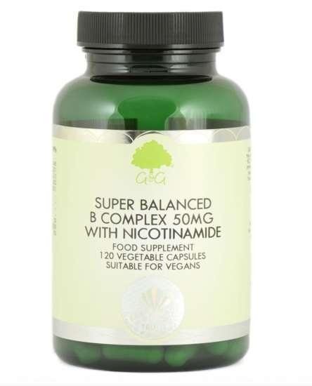 G&G Vitamins Super Balanced Vitamin B Complex with 50mg of Nicotinamide 120 veg. Kaps  (vegan)