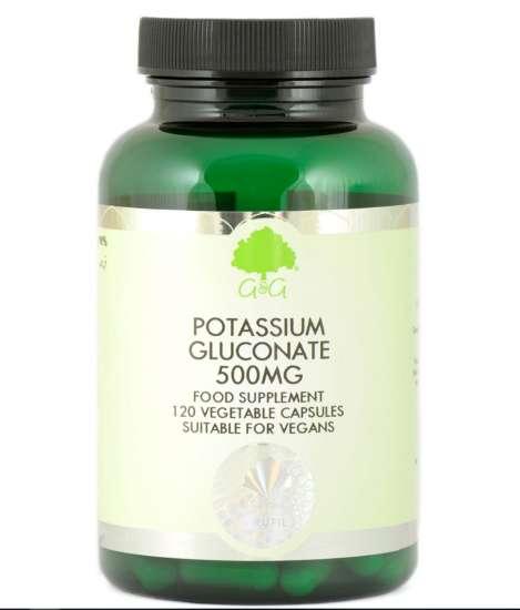G&G Vitamins Potassium Gluconate  (Kaliumgluconat) 120 veg. Kapseln (22g) (vegan)
