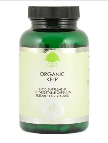 G&G Vitamins Organic Kelp BIO Seetang 120 veg. Kapseln (72g) (vegan)
