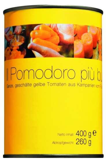 Il pomodoro più buono Pomodoro giallo Marzanello Gelbe Tomaten, ganz & geschält 400g Dose